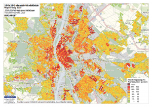 Budapest - population density map - 2015