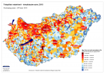 Purchasing power of settlements in Hungary - 2015